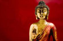 Boeddha rode achtergrond