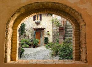 95x130 cm Toscaans venster patio