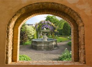 95x130 cm Toscaans venster fontein