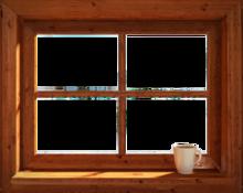 746-Eigen doorkijk blokhut venster