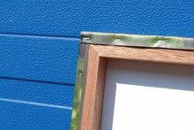 ophangsysteem tuinposter houten frame voor buiten