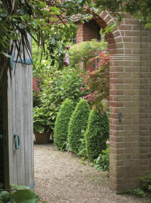 130x95 cm Romantische tuin