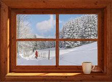 Blokhut-Kerstman sneeuw