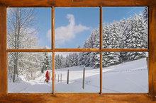 Kerstman in sneeuw