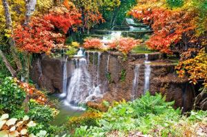 95x130 cm Waterval voorjaar