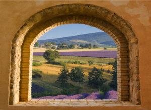 95x130 cm Toscaans venster lavendel