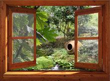 95x130 cm Open venster met kruik