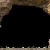 doorkijk gat in rots