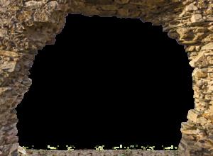 748-Eigen doorkijk Gat in rots