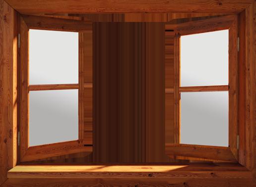 doorkijk eigen foto in open raam bruin