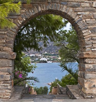 Griekse tuinposter h100xb95 cm