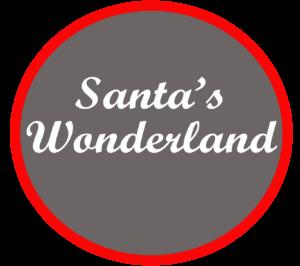 Kerstdorp achtergrond Santa's Winterwonderland bij Lemax, Luville, My Village