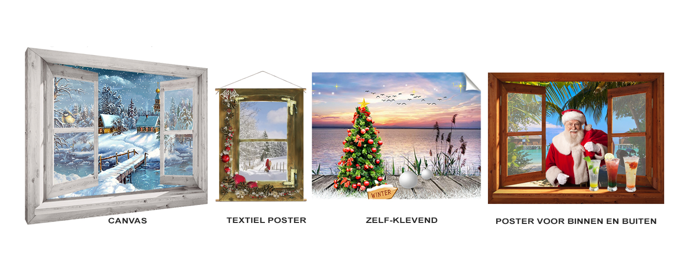 kerst poster en winter poster en kerstdorp achtergrond