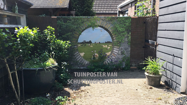 Tuinposter 'Geheime tuin Hollands Landschap'