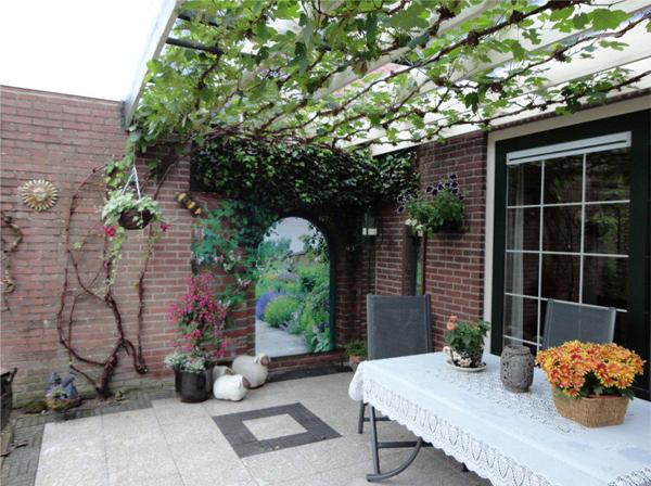 Tuinposter 'Kasteeltuin' doorkijk