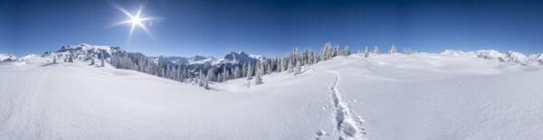 kerstdorp achtergrond winterlandschap panorama