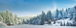 Winterlandschap valei