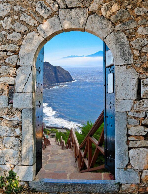 tuinposter aanbieding Palamidi doorkijkje Tenerife Gomera