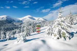 Winterlandschap Noordpool Santa's Wonderland