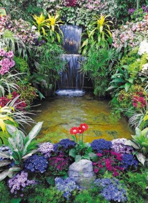 130x85 cm Waterval met bloemen