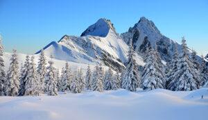 Sneeuwlandschap kerstdorp