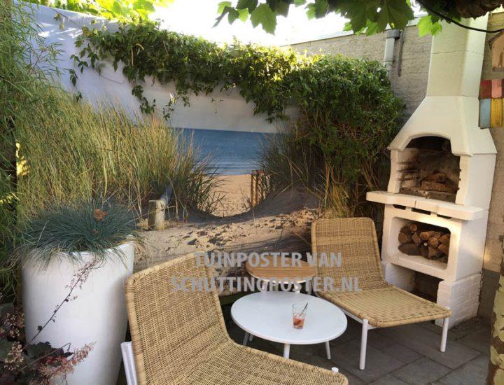 Tuinposter met Hollandse duinovergang