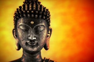 Boeddha oranje en geel