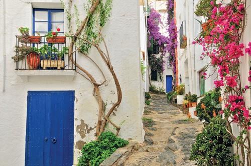 geveltje poster Grieks straatje