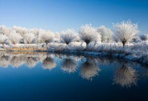 Sneeuwlandschap meer
