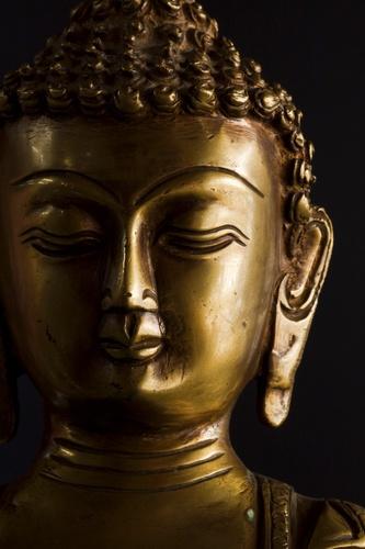 gouden Boeddha glanzend tuinposter