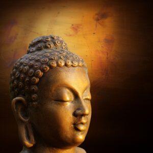 Boeddha oranje en bruin
