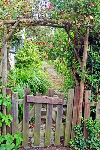 tuinposter doorkijk Tuinpoortje