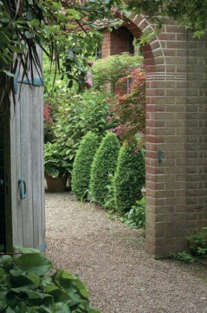Poort romantische tuin