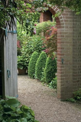 tuinposter doorkijk Poort romantische tuin