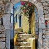 tuinposter met doorkijk Palamidi Kos