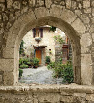 Spaans venster binnenplaats