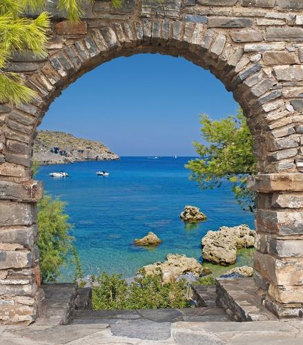 tuinposter met doorkijk Kroatië