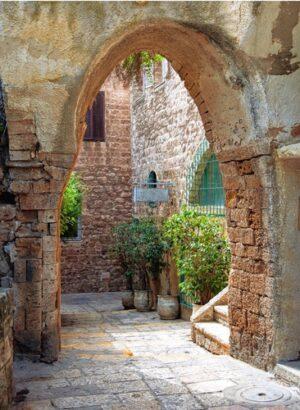 Doorkijk middeleeuwse stad
