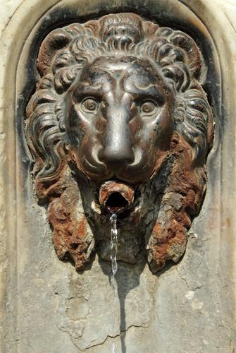 buitenposter Italiaanse fontein