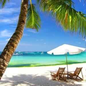Strandstoelen tropisch strand