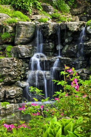 Waterval rotstuin