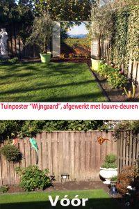 tuinposter doorkijk landschap franse louvre deurtjes