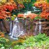 tuinposter waterval voorjaar