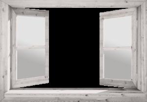 761-Eigen doorkijk open raam - wit