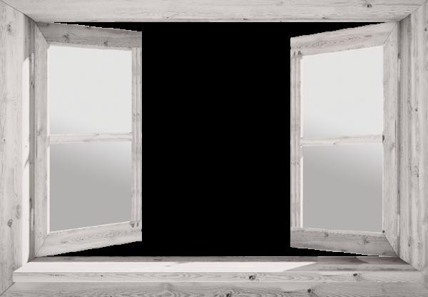 doorkijk eigen foto in open raam wit