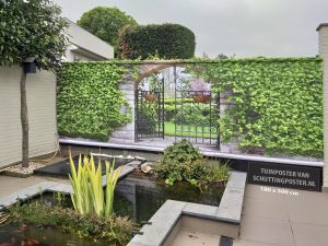 mega tuinposter doorkijk