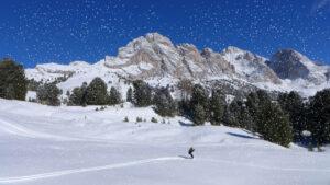 Skiër in de sneeuw