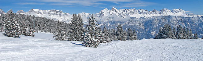 kerstdorp achtergrond panorama