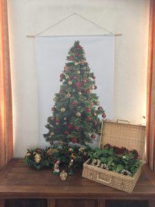 poster met kerstboom voor binnen en buiten