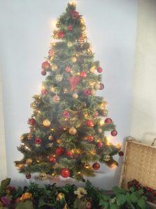 Kerstboom op doek met verlichting